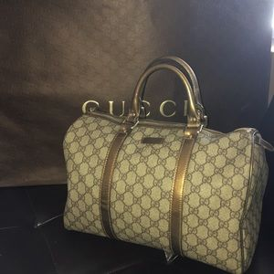 Auth Gucci hoy Boston satchel bag